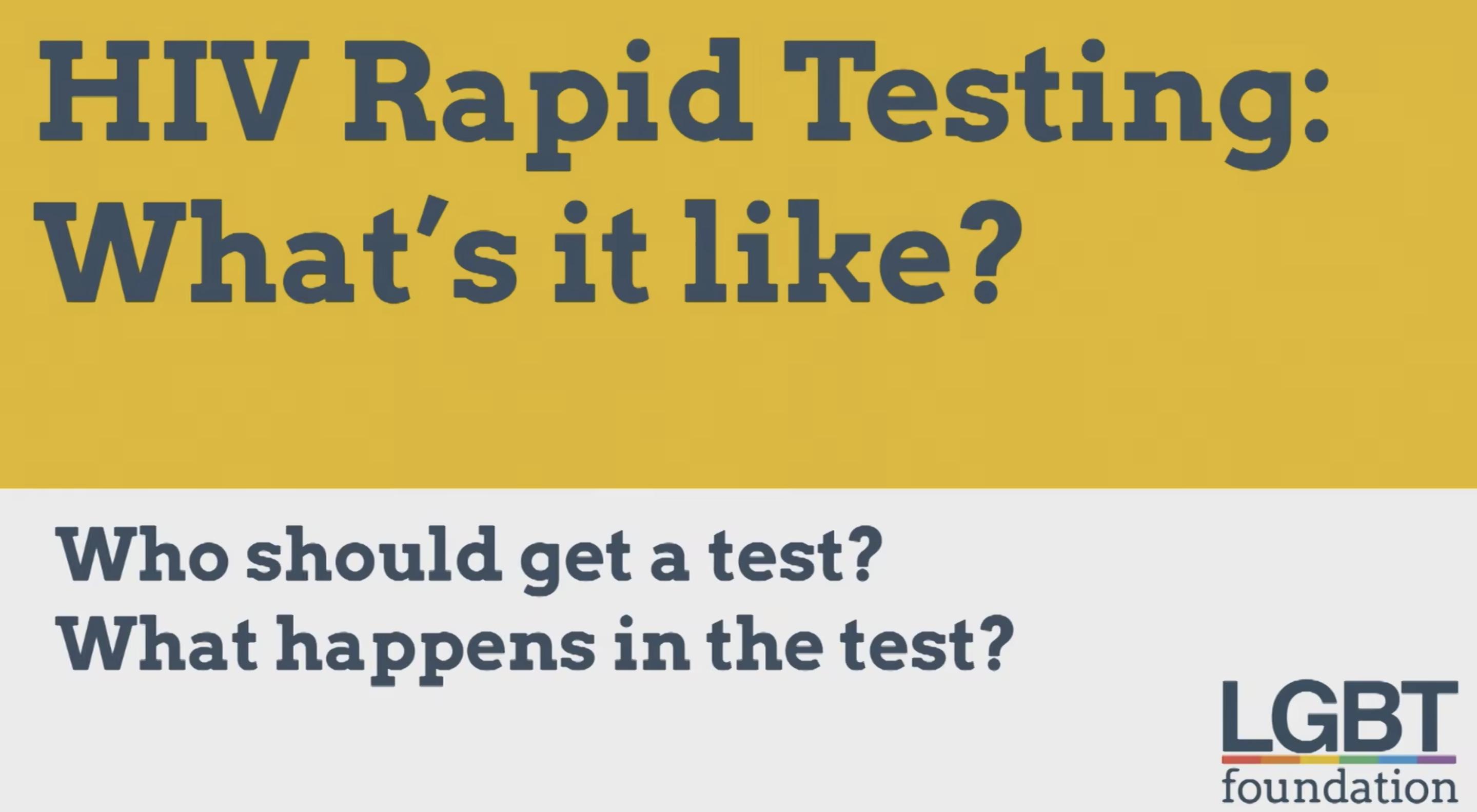 HIV testing video