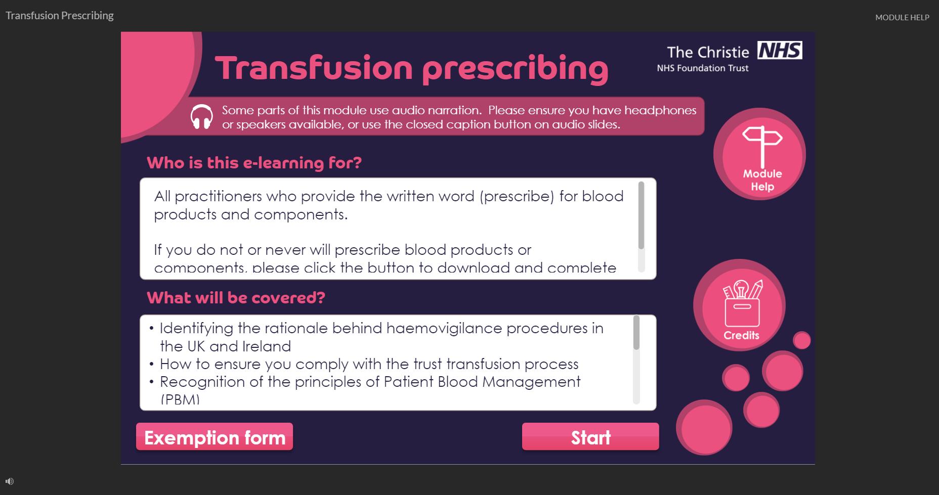Transfusion prescribing
